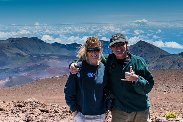Deborah and Michael showing the way in Maui