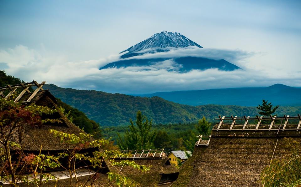 Mt Fuji from Iyashi no Sato