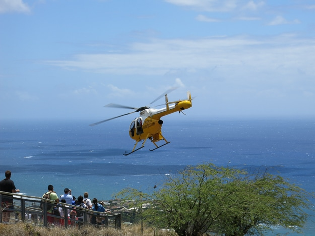 helicopter rescue Diamond Head