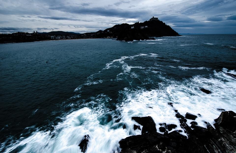 shoreline san sebastian spain