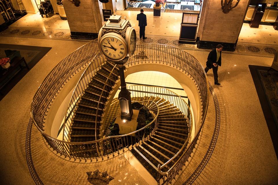 staircase royal fairmont hotel toronto
