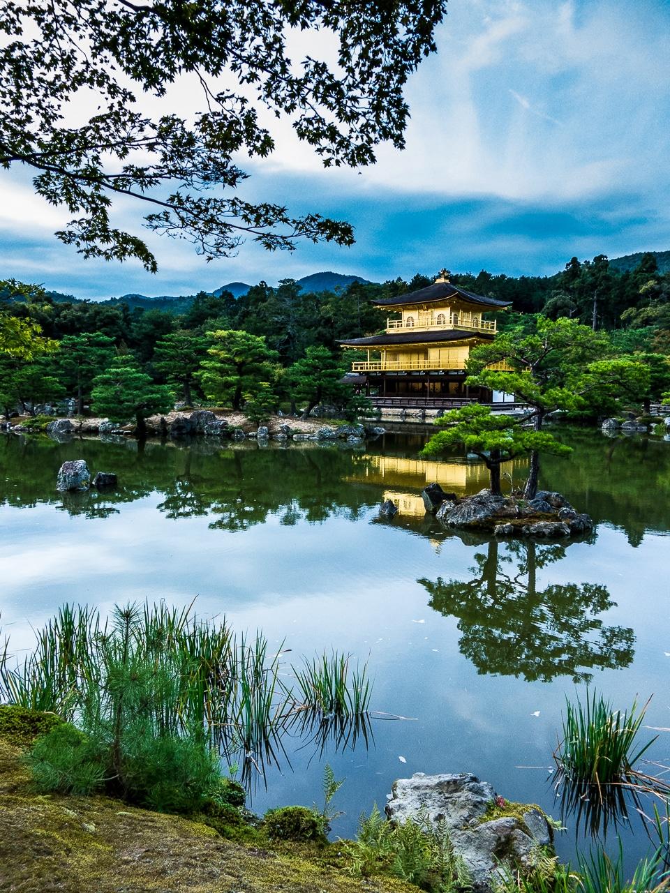 temple golden pavillion kyoto japan