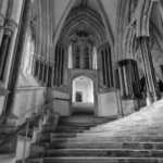 Stairway to Chapter House, Wells Cathedral, England