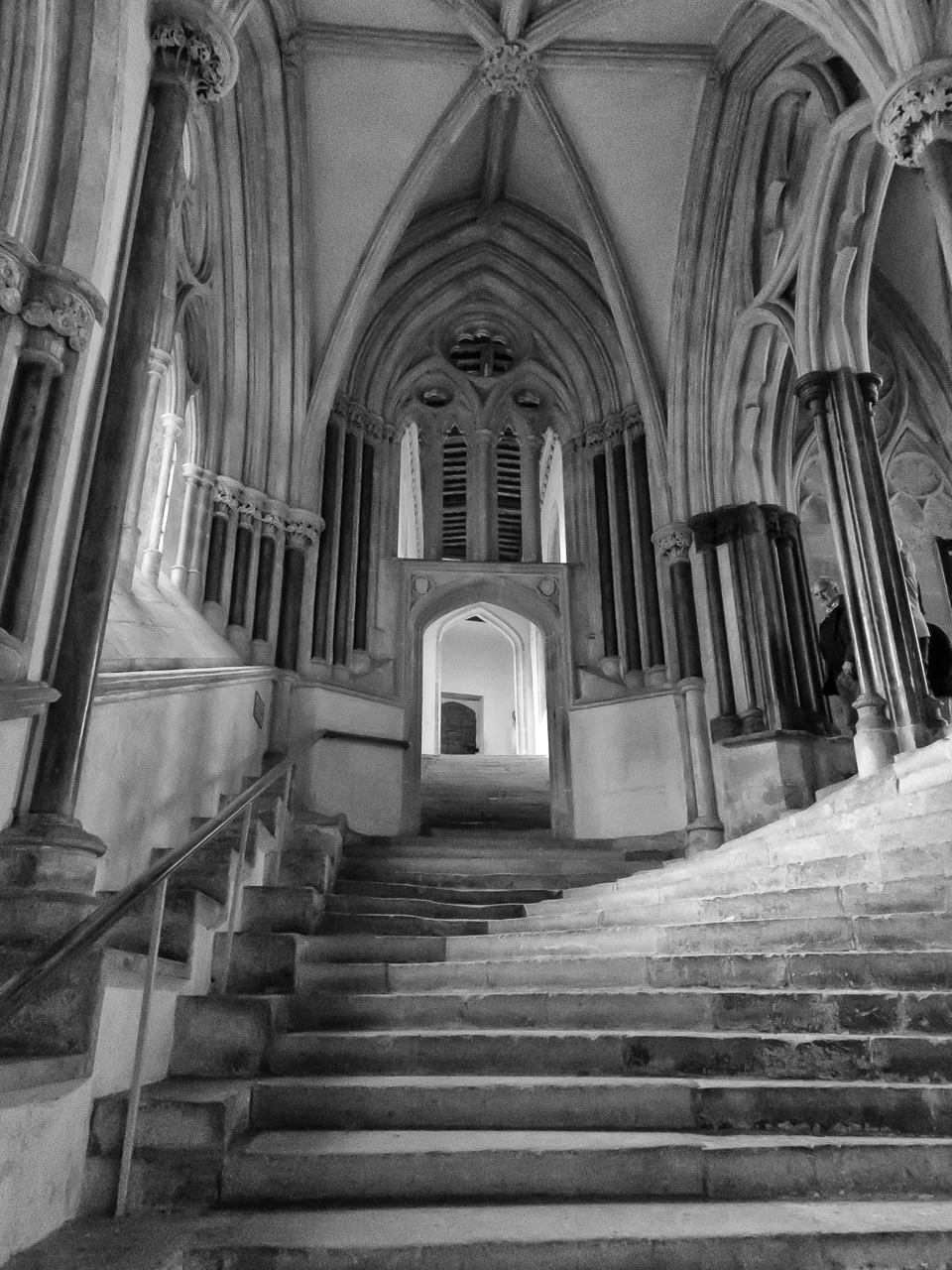 Stairway To Chapter House Wells Cathedral England