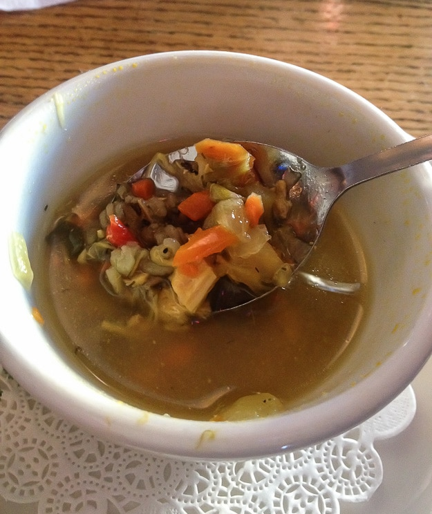 Wild Rice Soup at The Loon Cafe