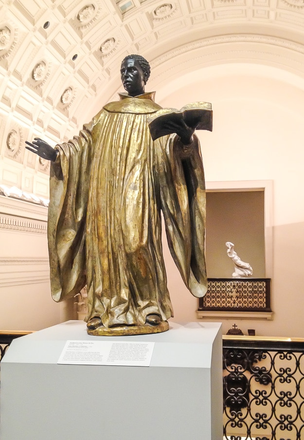 Saint Benedict of Palermo, attributed to José Montes de Oca (Spain)