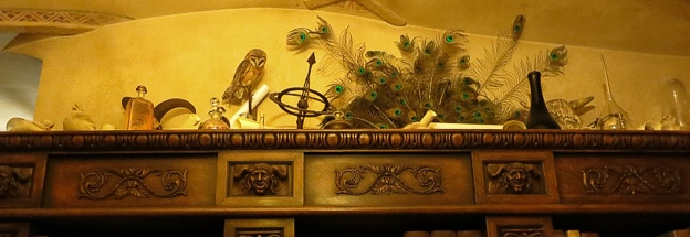 Owl and instruments, Museum of Alchemy, Prague