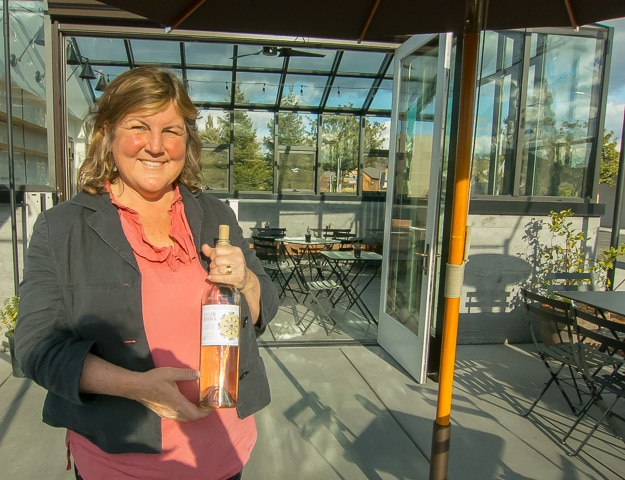 Elaine St. Clair of St. Clair Brown Winery, right in the town of Napa