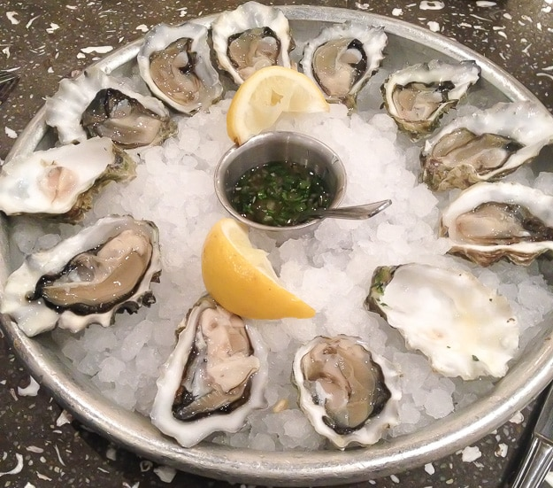 Gunstone (WA) oysters served simply with a delicious herb vinegar sauce