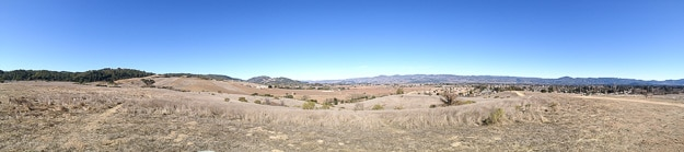 The panoramic views from the Alston off-leash dog park in Napa.