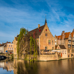 bruges canal towers