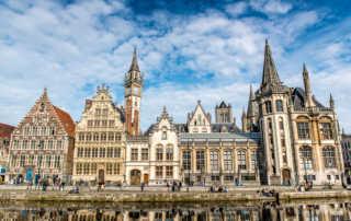canal scene ghent belgium