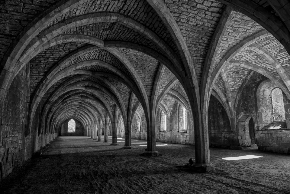fountains abbey cellarium england