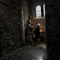 bruges woman holy blood basilica