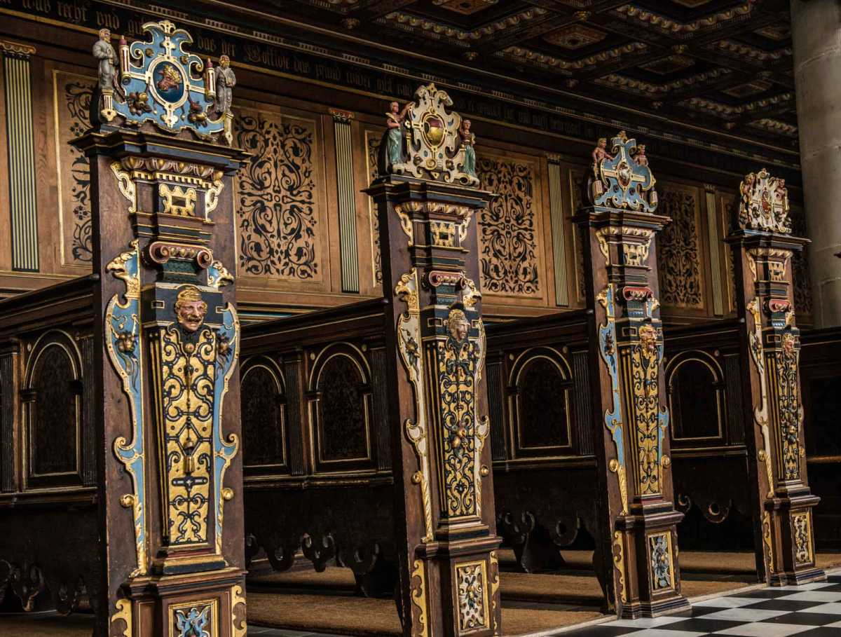 Kronborg castle helsingor chapel pews
