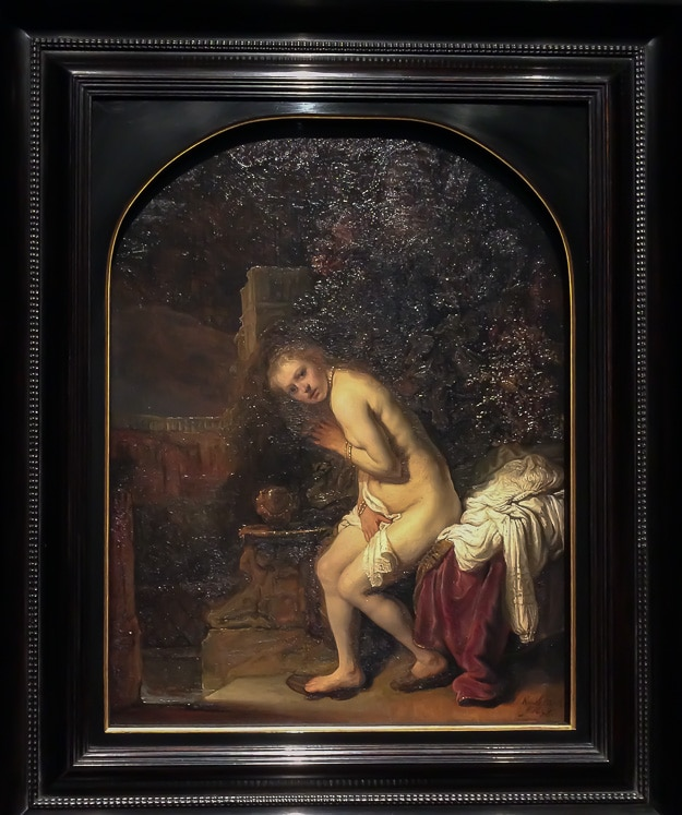 Rembrandt's Susanna, along with one of his self-portraits and other works were shown at the Gemeentemuseum in The Hague with the Mauritshuis Museum there was being renovated.