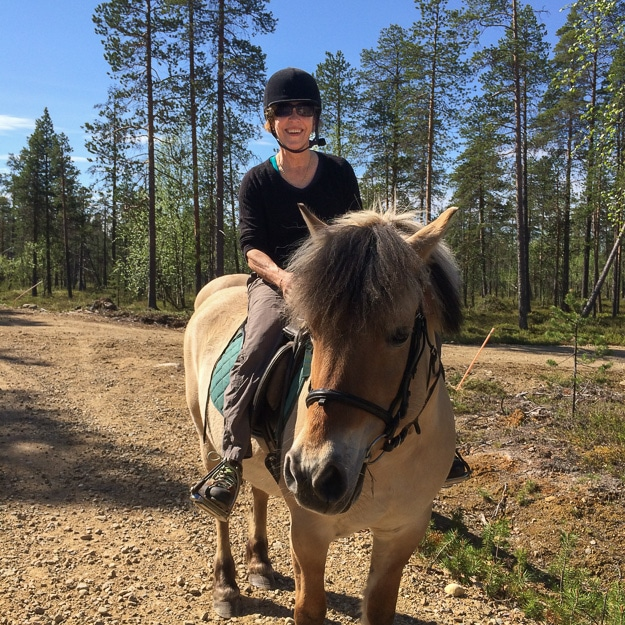 Into the wildlife on horseback, Finland