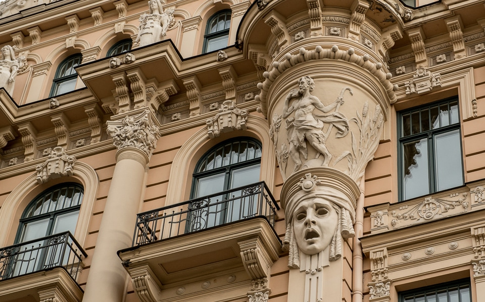 Art Nouveau Facades Riga Latvia Travel Past 50