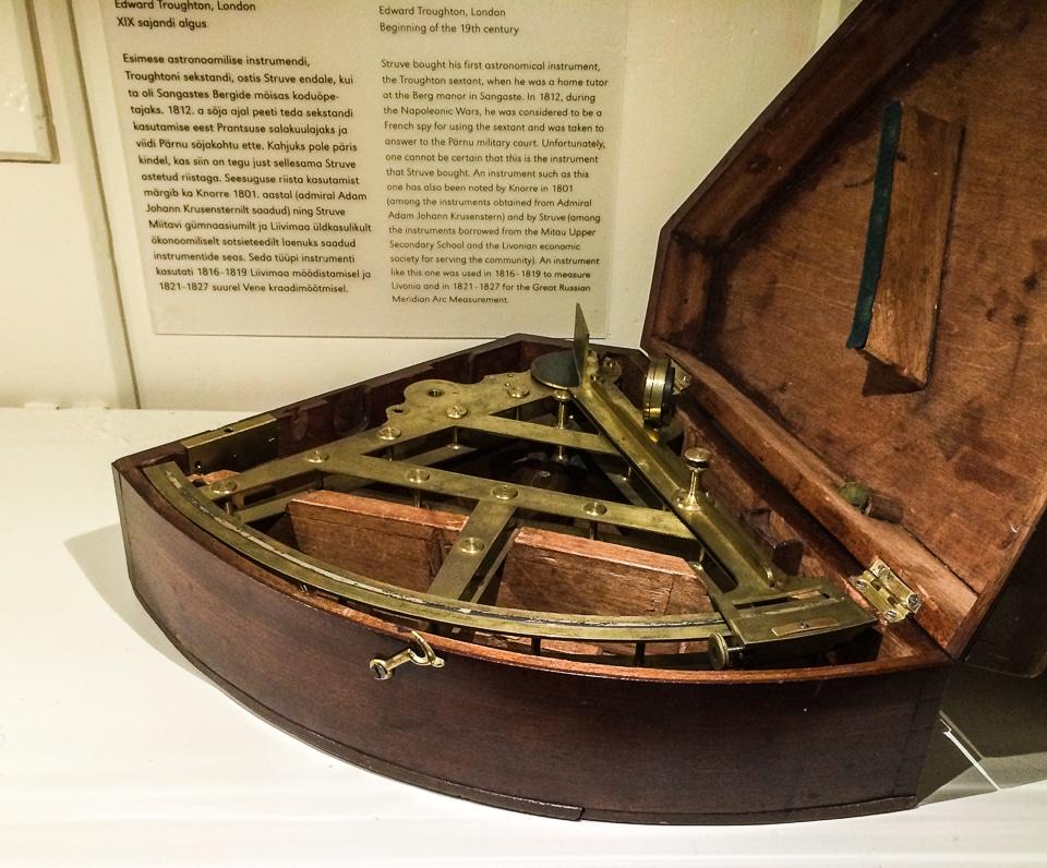 struve sextant Tartu University Estonia