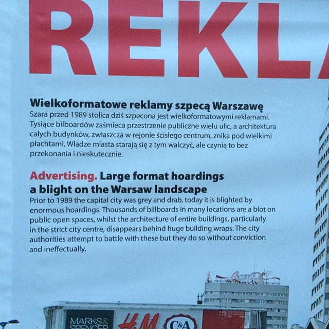 Advertising a blight on Warsaw landscape. True that. #poland #warsaw