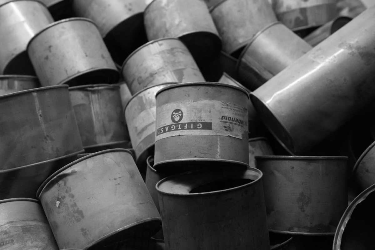 poison gas canisters Auschwitz