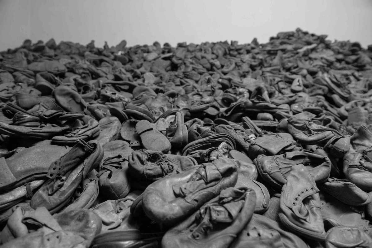 childrens shoes Auschwitz