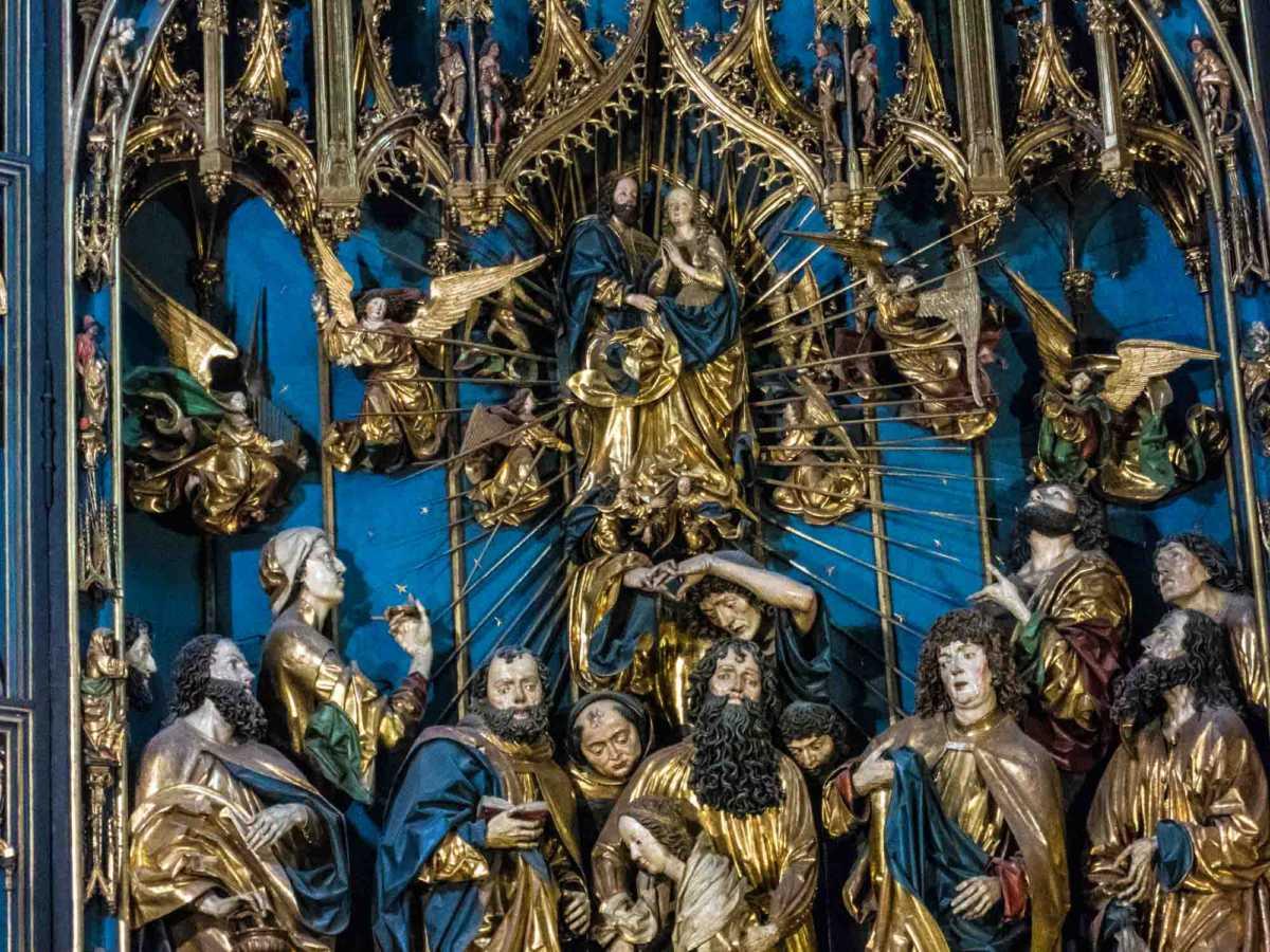 poland st mary's basilica krakow altar