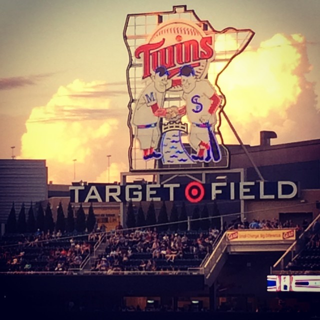 Strange clouds at the Twins game. #baseball #twinspics #mlb