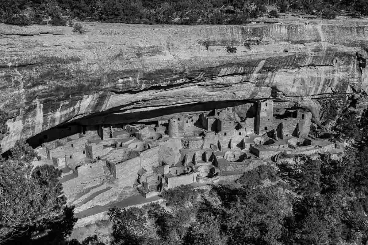 USA Colorado Mesa Verde national park cliff palace 1 bw
