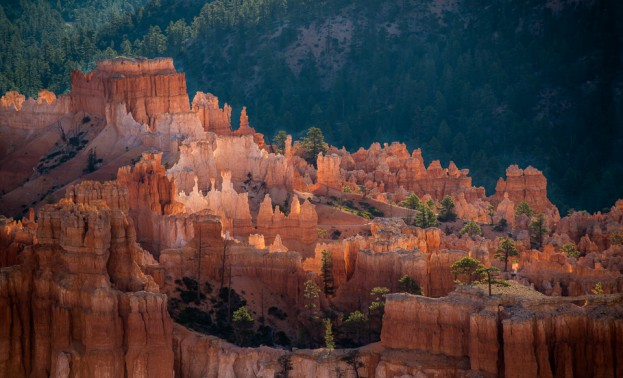 skyline bryce canyon sunrise_