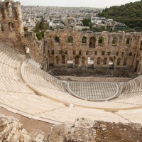 Odeion of Herodes Atticus, one of two theaters on the south hill of the Acropolis