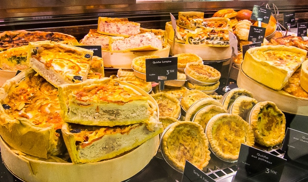 What can be more French than Quiche Lorraine? Eat in or take away.