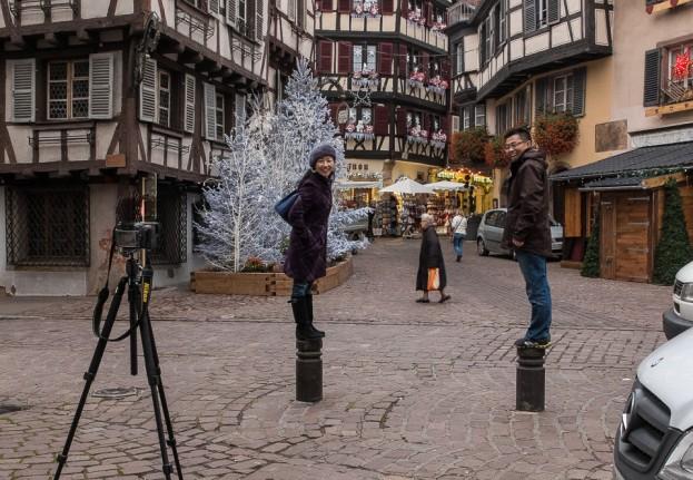 christmas selfie colmar france