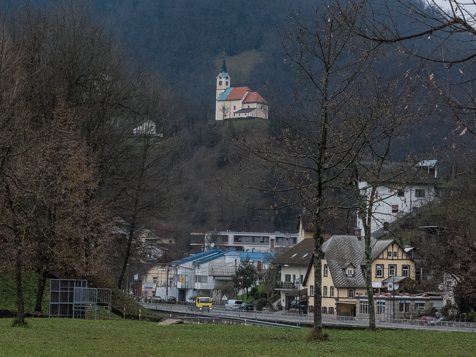 idrija church on hill