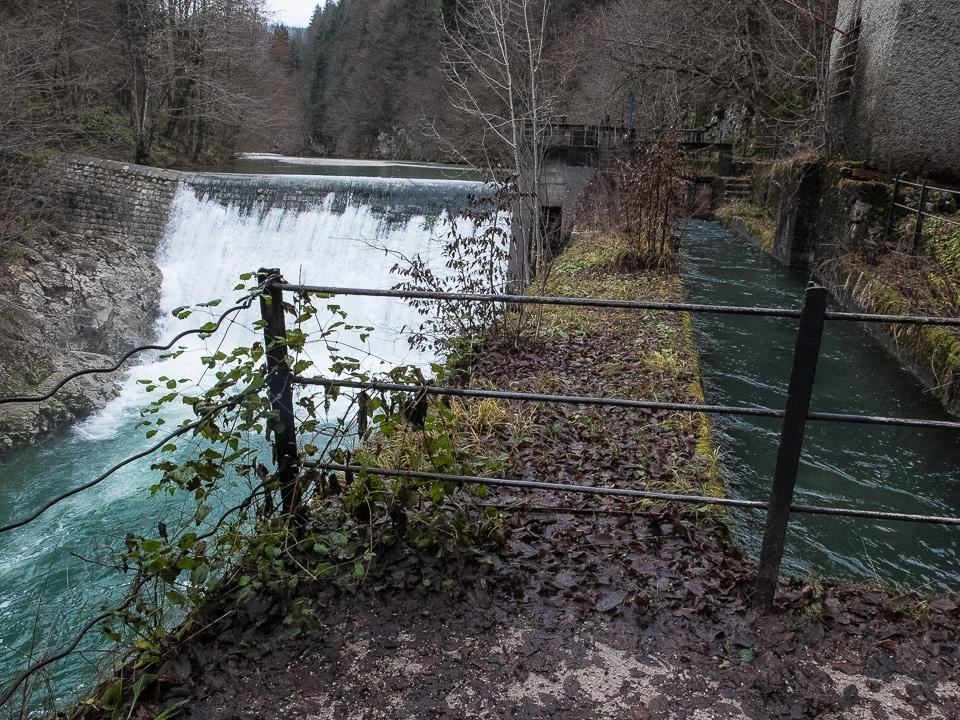idrija slovenia mercury mine dam and waterway