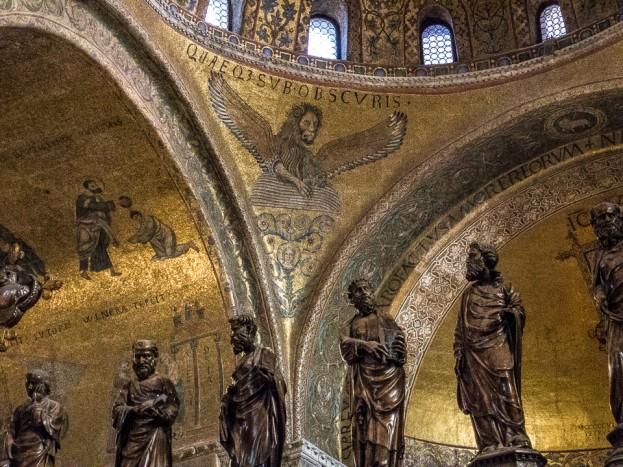 san marco lion and saints venice