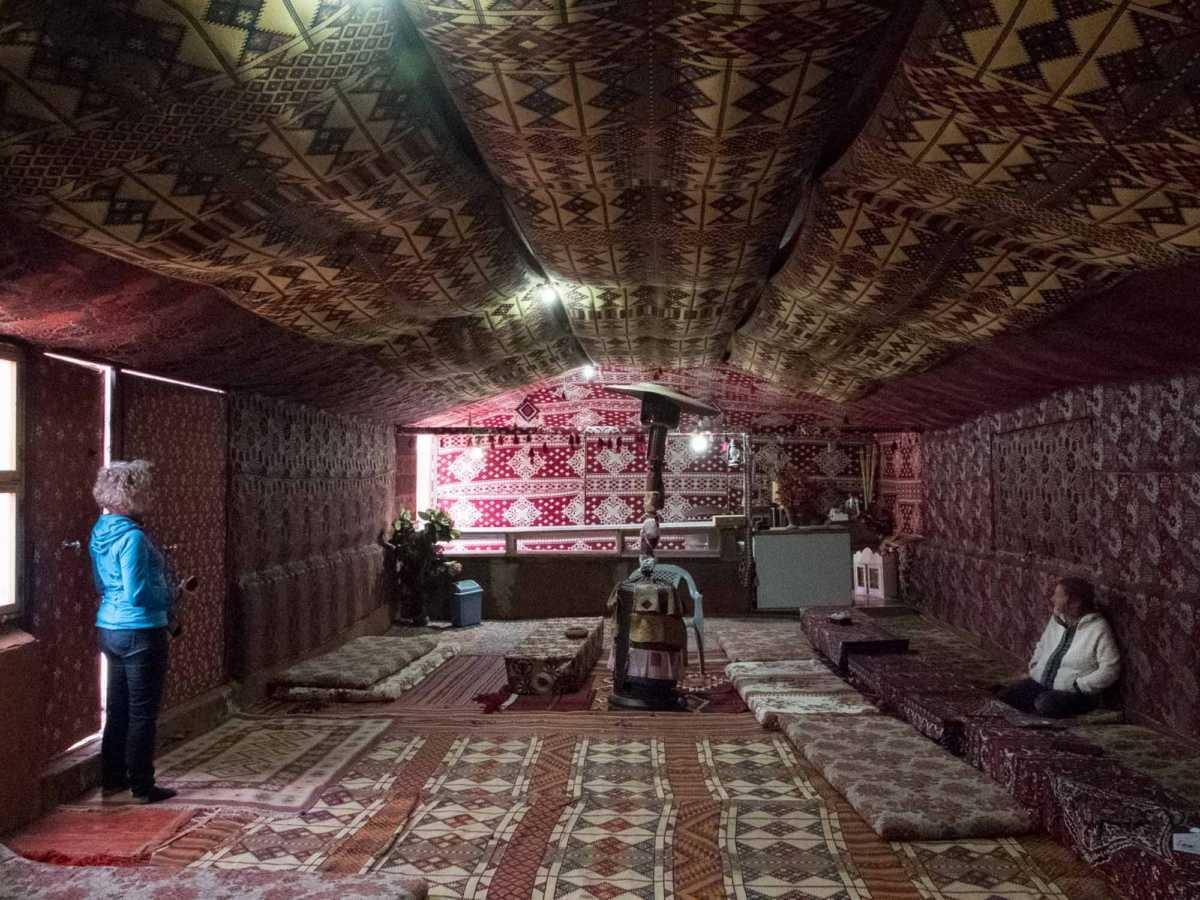 bedouin tent wadi rum