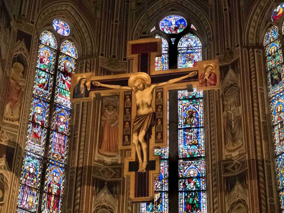 Crucifix Santa Croce Florence Italy Travel Past 50