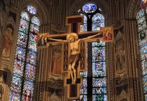 crucifix santa croce florence italy