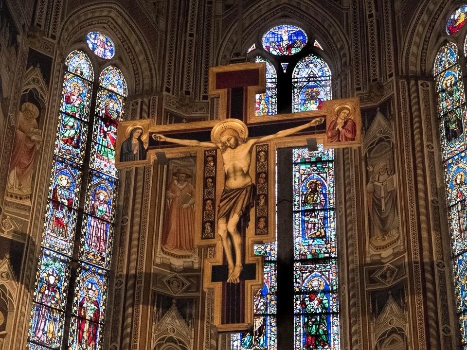 crucifix santa croce florence italy