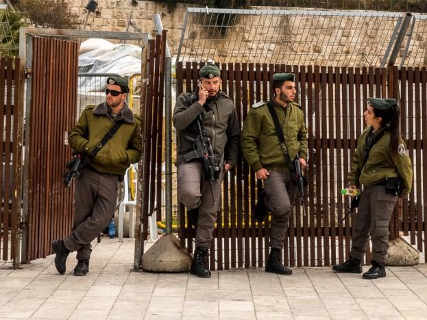 israeli soldiers western wall