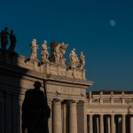 Afternoon Moon Over the Vatican