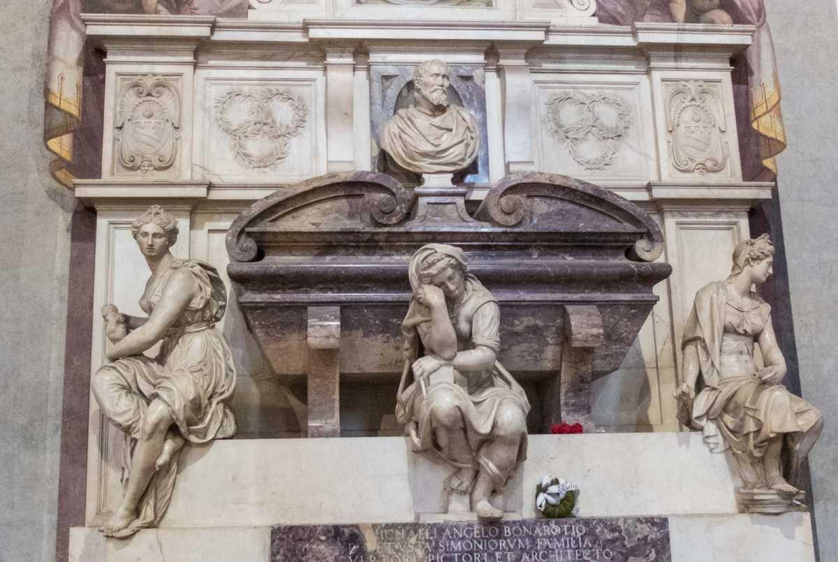 tomb michelangelo basilica santa croce florence 2