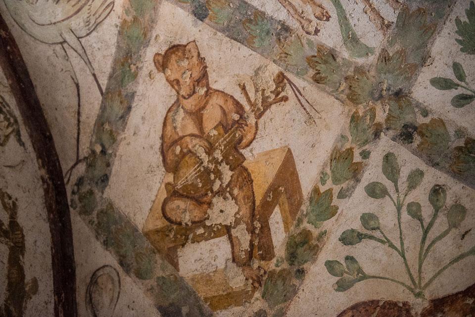 Quseir Amra bear fresco jordan