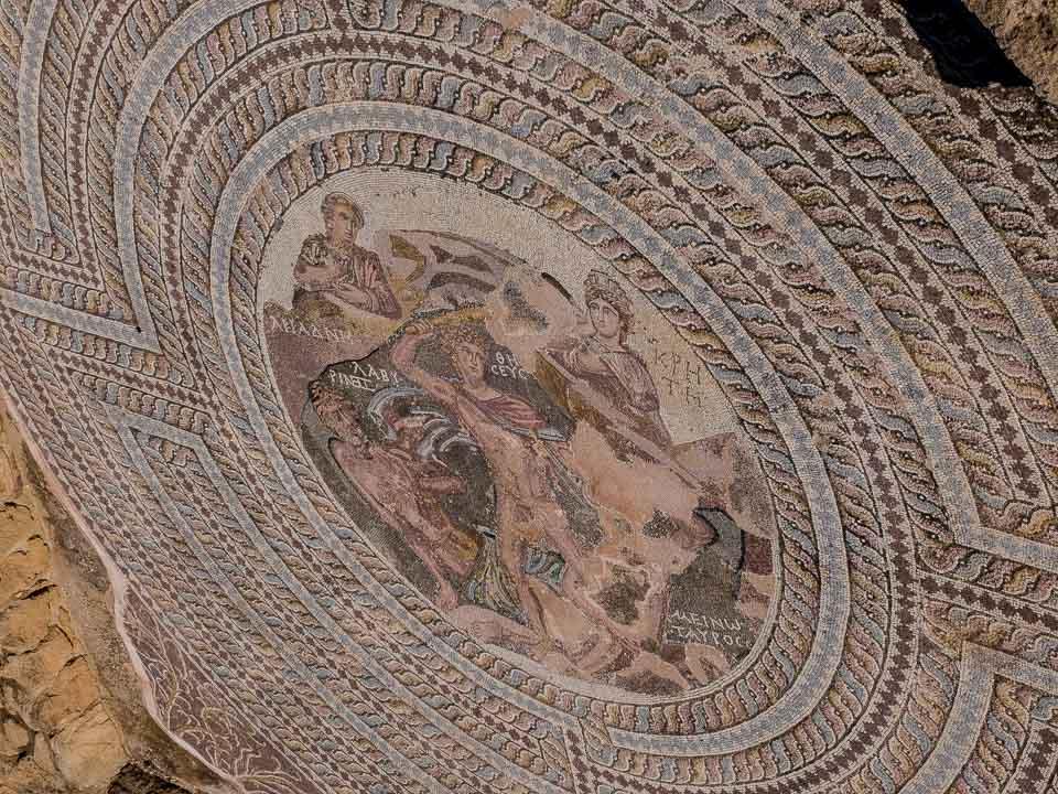 minotaur mosaic house of theseus paphos cyprus