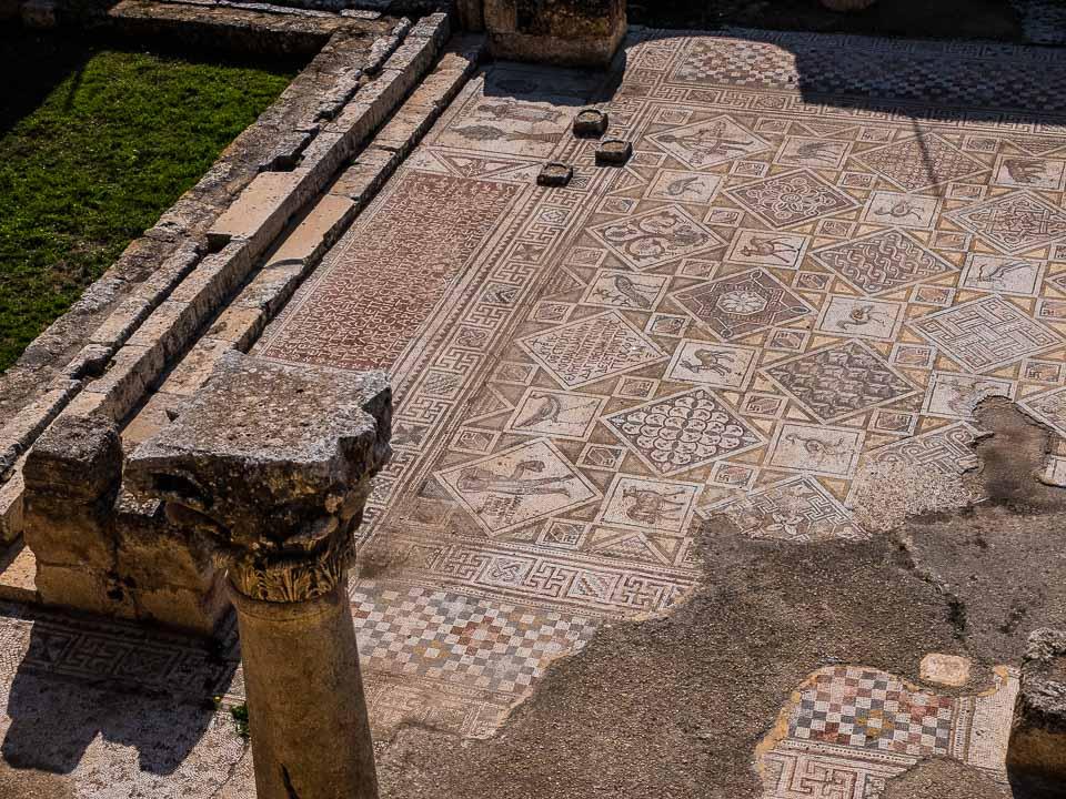 mosaics cosmas damian jerash jordan