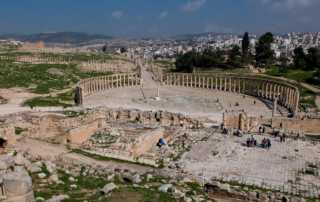 oval plaza from temple zeus jerash jordan 2