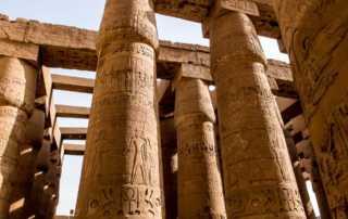 Karnak temple columns luxor egypt