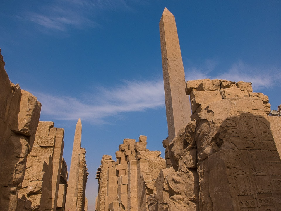 Karnak temple obelisks luxor egypt