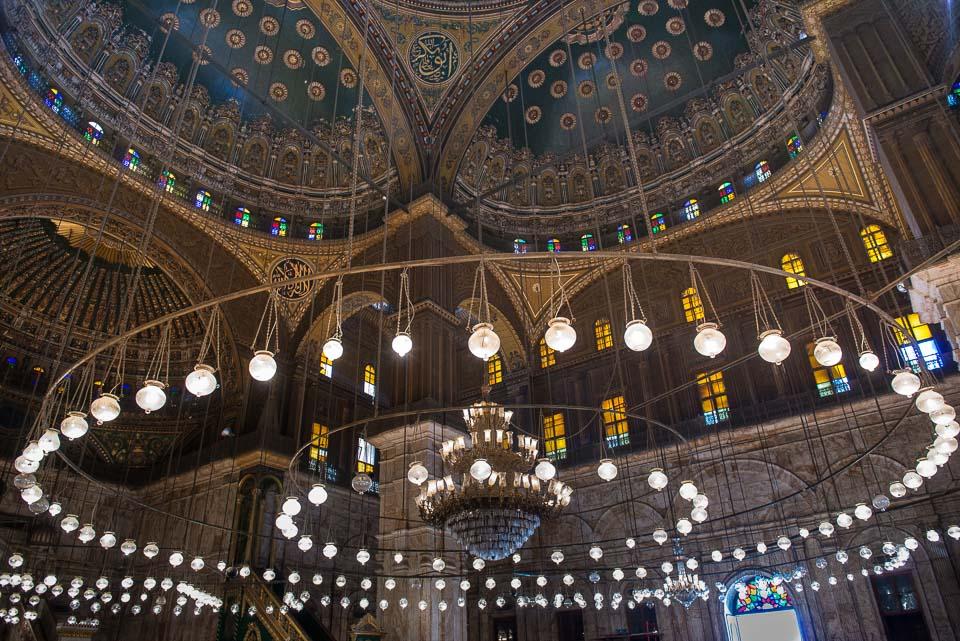 chandelier mosque Muhammad Ali Cairo
